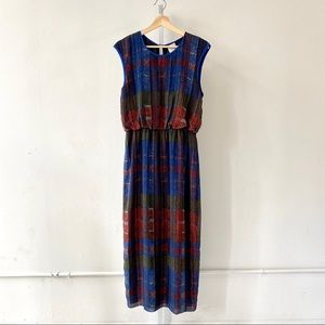 HD in Paris Andaz Plaid Maxi Dress Anthropologie 8